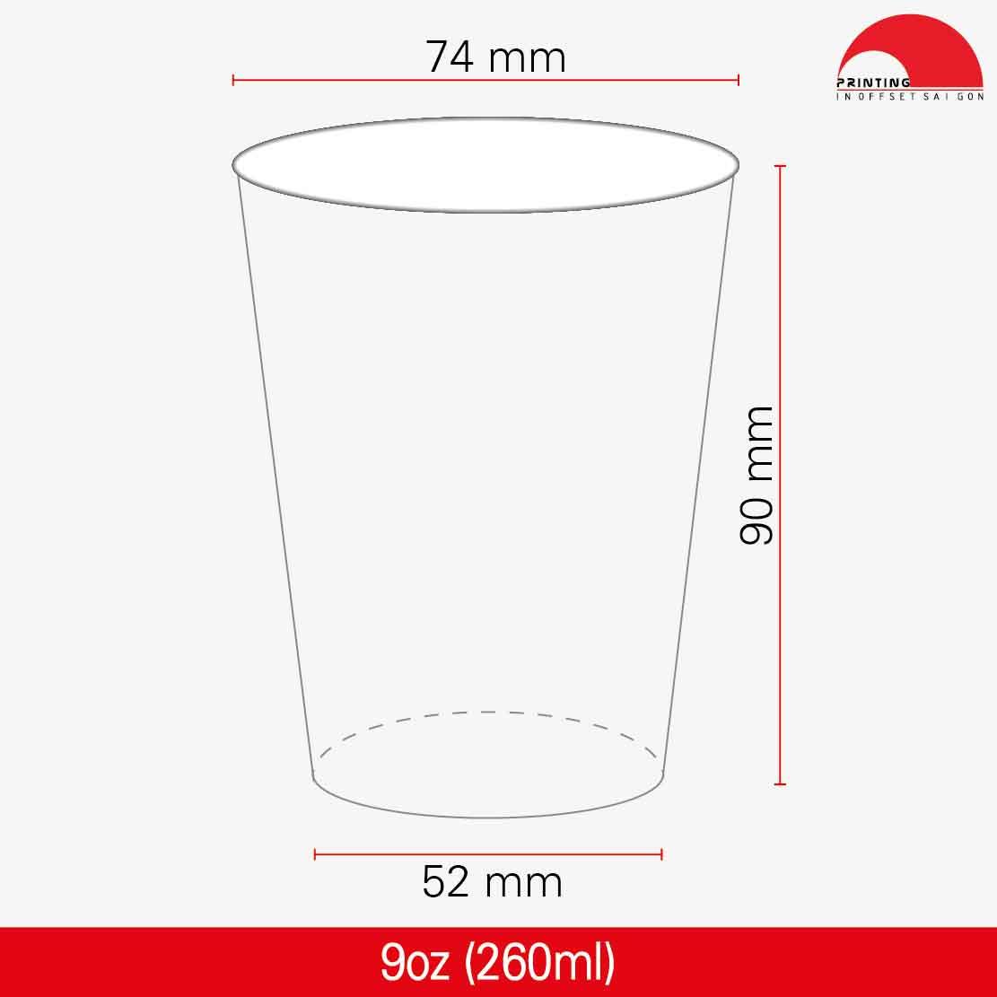 Ly Giấy 9oz - 270 ml