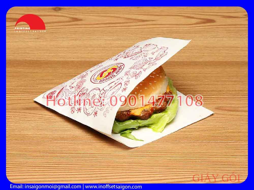 Túi Giấy Hamburger - Túi Giấy Thấm Dầu