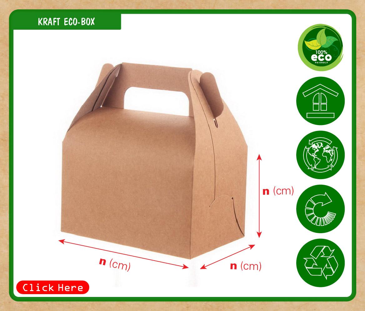 Hộp giấy đựng bánh có quai xách, hộp giấy đựng gà rán