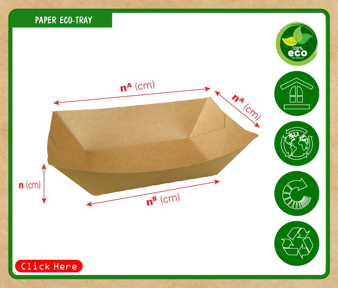 Khay giấy đựng thức ăn nhanh