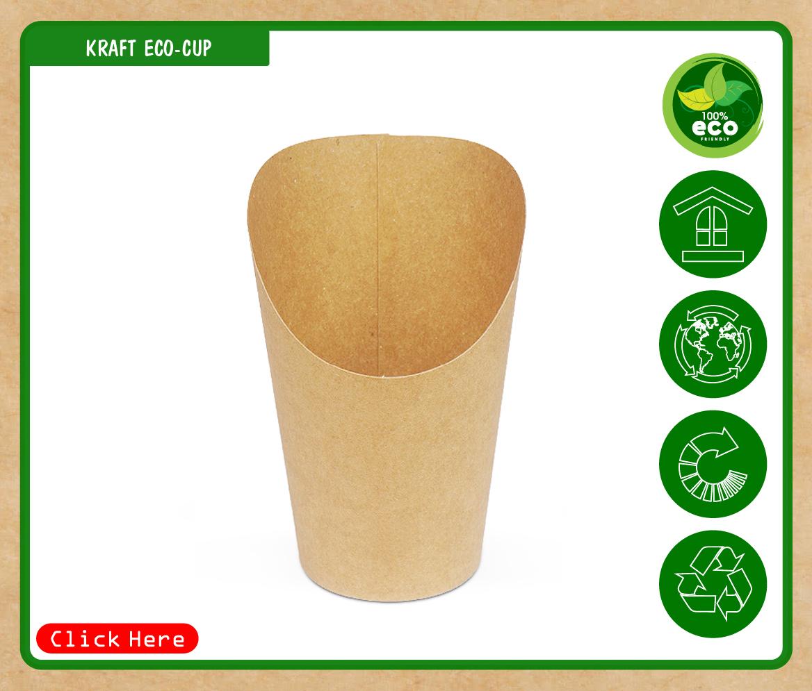 Ly giấy kraft khoai tây chiên