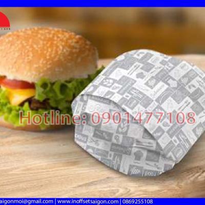 Giấy Gói Hamburger - Giấy Gói Thực Phẩm