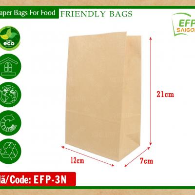 Kraft paper bags for fried food